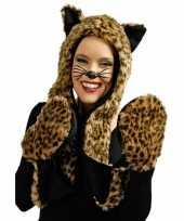 Goedkope pluche luipaard verkleed set