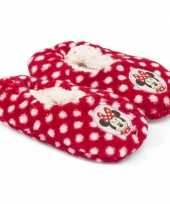 Goedkope pluche minnie mouse pantoffels rood