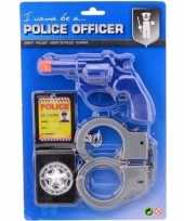 Goedkope politie speelgoed verkleed accessoire set kinderen