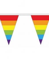 Goedkope polyester vlaggenlijn regenboog vlaggetjes meter