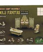 Goedkope poppenhuis badkamer meubeltjes