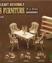 Goedkope poppenhuis meubels eetkamer
