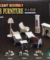 Goedkope poppenhuis meubels huiskamer