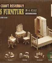 Goedkope poppenhuis slaapkamer meubeltjes