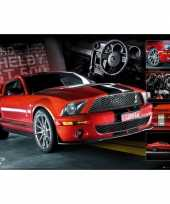 Goedkope poster rode ford mustang