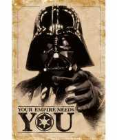Goedkope poster star wars darth vader