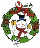 Goedkope raamsticker sneeuwpop 10074190