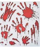 Goedkope raamstickers bloedende handafdrukken
