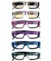 Goedkope rechthoekige glimmende brillen