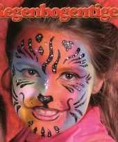 Goedkope regenboog tijger schminken schminkset