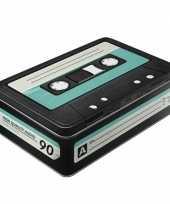 Goedkope retro cassette bewaarblik
