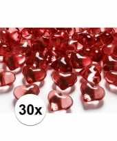 Goedkope rode decoratie hartjes diamantjes stuks 10082021