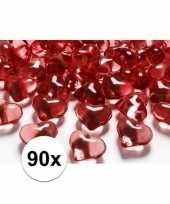 Goedkope rode decoratie hartjes diamantjes stuks 10100077