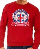 Goedkope rode engeland drinking team sweater heren