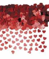Goedkope rode hartjes confetti zakjes