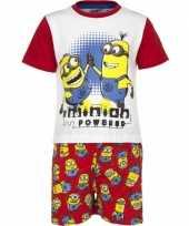 Goedkope rode minion powered korte pyjama jongens