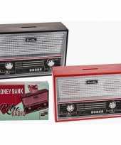 Goedkope rode radio spaarpot