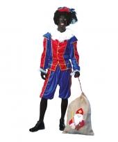 Goedkope roetveeg pieten kostuum blauw rood unisex
