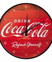 Goedkope ronde wandklok coca cola