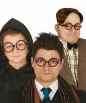 Goedkope ronde zwarte nerd verkleed bril zonder glazen