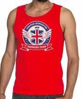 Goedkope rood engeland drinking team tanktop mouwloos shirt heren