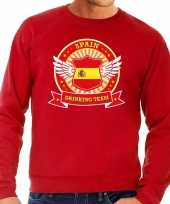 Goedkope rood spain drinking team sweater heren