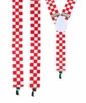 Goedkope rood wit geblokte bretels