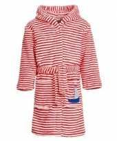 Goedkope rood witte badjas ochtendjas strepen kinderen