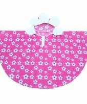 Goedkope roze bloemen poncho meiden