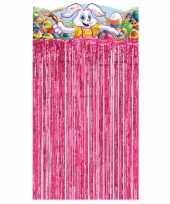 Goedkope roze deurgordijn pasen