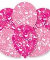 Goedkope roze geboorte ballonnen meisje stuks