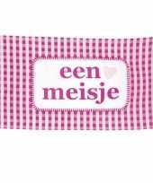 Goedkope roze geboorte vlag een meisje