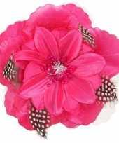 Goedkope roze hawaii bloem veertjes
