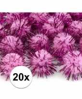 Goedkope roze knutsel pompons mm