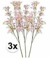 Goedkope roze kroonkruid kunstbloemen tak