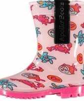 Goedkope roze peuter regenlaarzen zeedieren