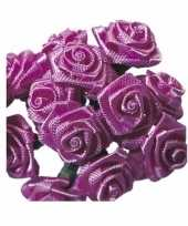 Goedkope roze roosjes satijn 10086068