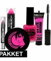 Goedkope roze uv make up pakket
