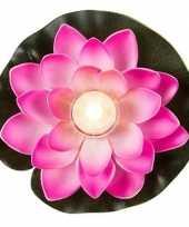 Goedkope roze waterlelie led licht
