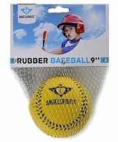 Goedkope rubberen honkbal geel
