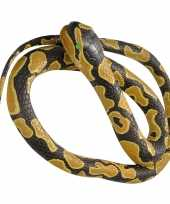 Goedkope rubberen speelgoed koningspython mega slang