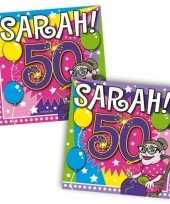 Goedkope sarah jaar servetten