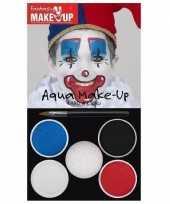 Goedkope schmink set horror clown kleuren
