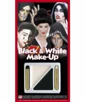 Goedkope schmink setje zwart wit