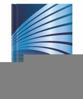Goedkope schrift a formaat blauwe harde kaft 10089466