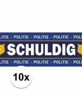 Goedkope schuldig stickers politie agent kostuum 10101657