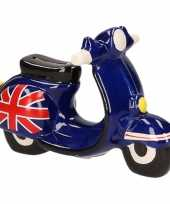 Goedkope scooter spaarpot donkerblauw