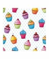 Goedkope servetten cupcakes stuks