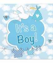 Goedkope servetten geboorte jongen stuks