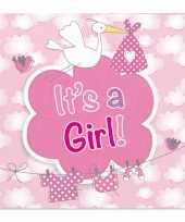 Goedkope servetten geboorte meisje stuks